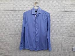 Camisa Social Azul Clara Wolens Slim - Riachuelo Tam 1/P