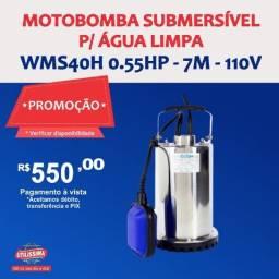 Título do anúncio: Motobomba Submersível para Água Limpa 1/2HP