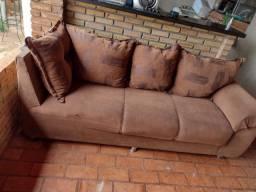 Título do anúncio: Sofá 3 lugares com almofadas removíveis $200 entrego
