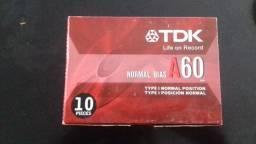 Lote de 100 fitas k7(Tapes) virgens e lacradas