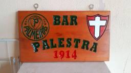 Placas entalhadas personalizadas decorativas Madeira Maciça