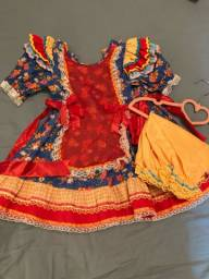 Vendo vestido quadrilha 2-3 anos
