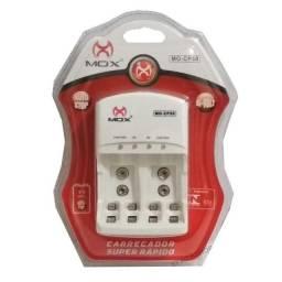 Carregador Pilhas Mox  aa e aaa Baterias 9v MO-CP50