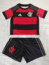 Uniforme do Flamengo Infantil Adidas(Oficial)