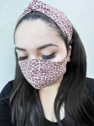 Conjuntos máscara e faixa turbante