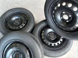 Roda 14  Original VW gol g7 +pneus Dunlop de Brinde 599,00 torra  ac/13,14,15