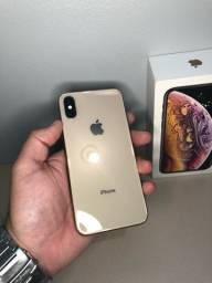 iPhone XS 64GB Gold Lindo ( Aceito cartão crédito )