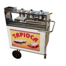 Carrinho para venda de tapioca, hotdog