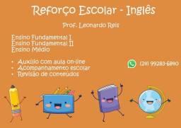 Reforço escolar em Inglês