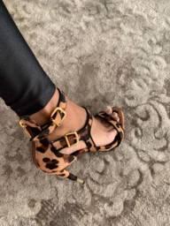 sandália salto schutz onça