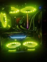 Título do anúncio: Pc gamer i7 10700f troco em moto 600 acc