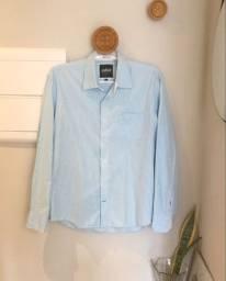Camisa social azul VR Menswear - TAM P - Usada