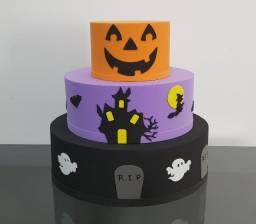 Título do anúncio: Bolo Fake - EVA - Decoração de Halloween