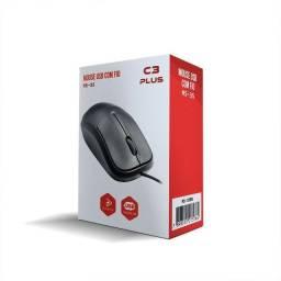 Mouse USB óptico 1000dpi Preto