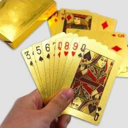 Baralho Dourado Prata Jogos Truco Poker Cartas Impermeável