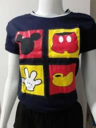 T-shirts em malha de algodão