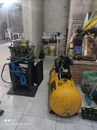 Título do anúncio: Máquina de estampo linha suprema com compressor.