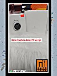 Nosso lindo Smartwatch Amazfit Verge da Xiaomi na cor branco. Faz e recebe ligações!