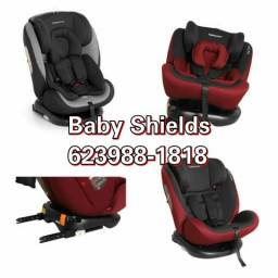 Cadeira para auto reclinável 0 a 36 kg kiddo com isofix giro 360 graus