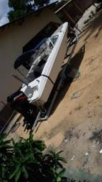 Vende-se lancha top motor 90hp Mercury - 2020