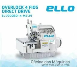 Máquina overlock industrial 4 fios Nova