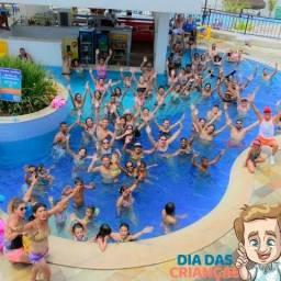 Caldas Novas - Resort do Lago - Apt para até 8 pessoas com parque aquático completo
