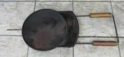 Chapa antiga em ferro fundido