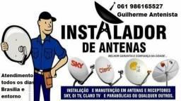 Antenas, receptores em geral