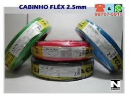 Fio Cabinho Fléx 2.5mm: 80,00