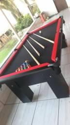 Mesa de Redes Cor Preta Tecido Preto e Borda Vermelha Mod. THVM0985