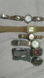 relógios feminino 6 total antigo