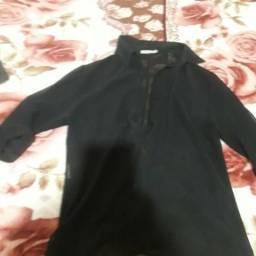 Camisa de seda semi transparente