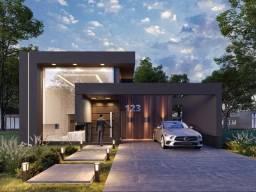 Casa em condomínio fechado, arquitetura moderna, 3 suítes, estuda prazo