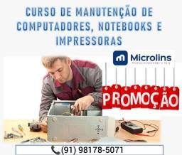 CURSO EM MANUTENÇÃO DE COMPUTADORES, NOTEBOOKS E IMPRESSORAS