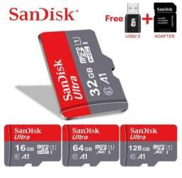 Cartões de memória Classe 10 U1 alta velocidade