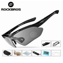Óculos De Ciclismo 5 Lentes Polarizado Rockbros