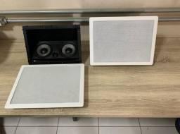 Kit c/ 2 Cx Acústica H.theater Lht-100 Loud 100w Rms-embutir