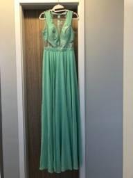 Título do anúncio: Vestido de festa/ verde água