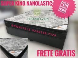 Título do anúncio: Cama super king nanolastic ** mega promoção