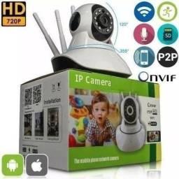 Título do anúncio: Câmera Ip Wi-fi Noturno 3 Antenas De Segurança S/fio 720p HD