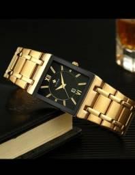 Título do anúncio: Vendo relógio dourado de aço inoxidável aprova d'água,novo.