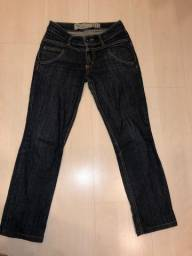 Calça Jeans Capri E Cintura Baixa Maria Filó - Tamanho 36