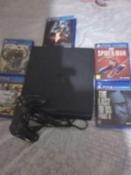 Título do anúncio: PlayStation 4 + 5 jogos Otimo estado s2
