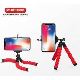 Mini Tripé Flexível com Suporte Celular- Entrega Grátis