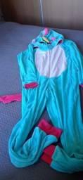 pijama novo unicórnio adulto fleece M