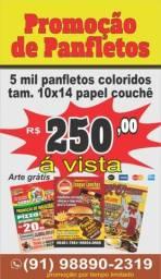 Título do anúncio: 5 mil panflletos impressão colorido por R$ 250