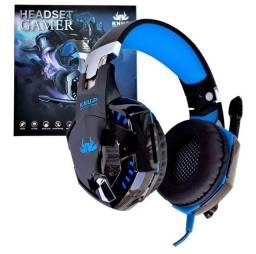 Headset fone gamer Knup 455A