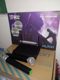 Título do anúncio: Microfone duplo LE SOM Semi novo