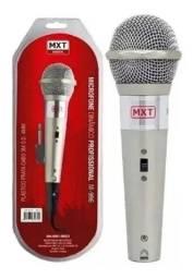 Microfone Dinâmico  M 996 Prata + Cabo 3 Metros