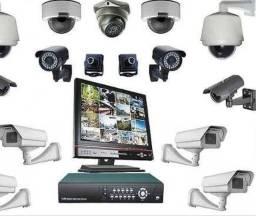 Título do anúncio: Câmeras de segurança via internet instalação manutenção